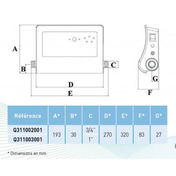 Inhibiteur électronique de tartre COMAP 5106