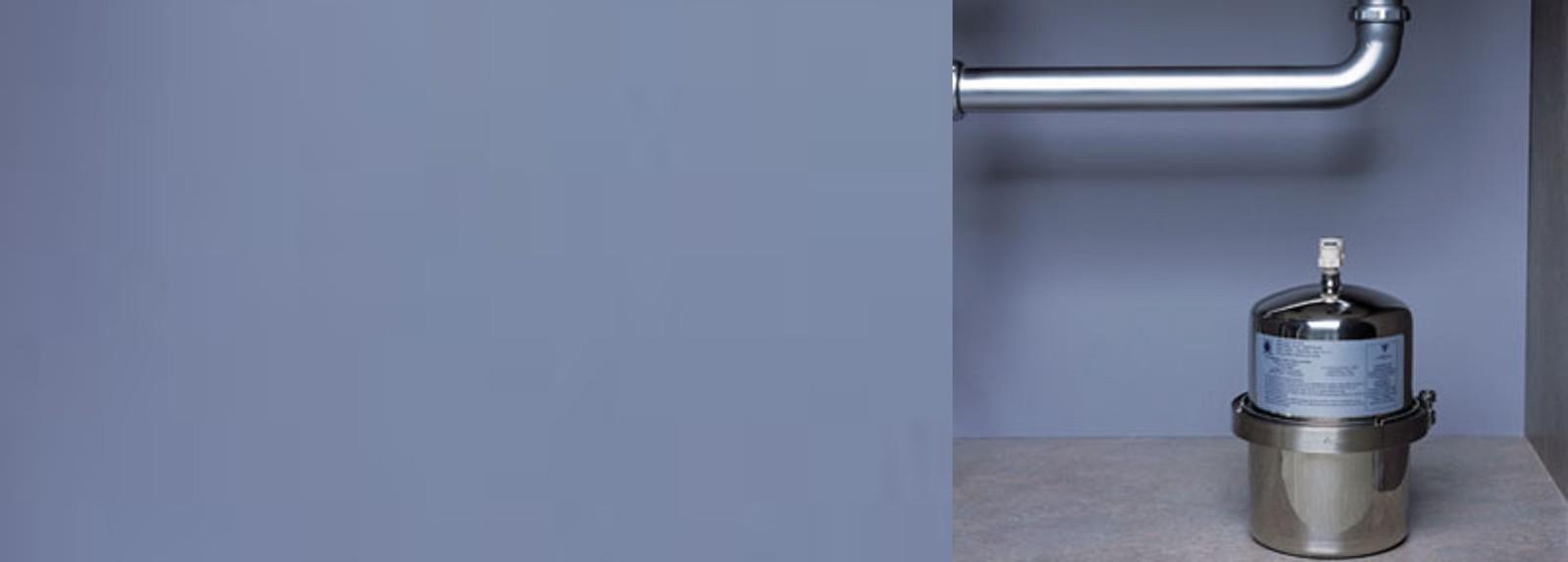 Porte filtre sous évier pour filtrer l'eau du robinet